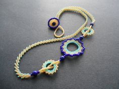 Circular Peyote Stitch Necklace Step-by-Step detailed pictures ~ Seed Bead Tutorials