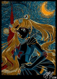 Usagi And The Starry Night by ~GBIllustrations on deviantART