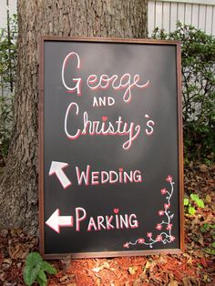 Personalized Chalkboard Wedding Sign