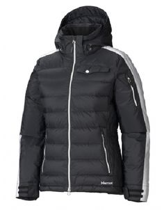 Women seeking the warmth of down insulation for skiing can look to the Marmot Zermatt Jacket, the ideal companion for those cold days on the mountain.