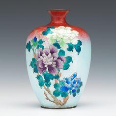 A Cloisonne & Ginbari Vase