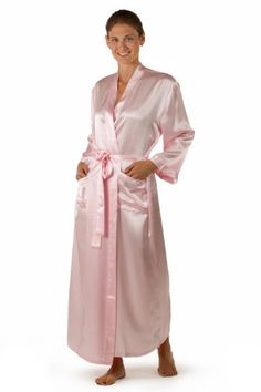 Womens Silk Robe Bathrobe Long Robe – La Perla Naturale (Pink e8bf3b770
