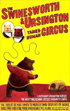 Vintage The Swinesworth & Ursington Circus Poster