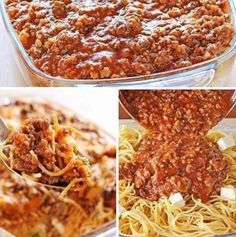 Ingredients: 1 lb of ground beef 1 jar of spaghetti sauce 8 oz of cream cheese ¼ cup sour cream ½ lb cottage cheese (equals 1 cup) ½ cup butter (1 stick) 1 pkg spaghetti 16 oz Grated cheddar cheese Directions: Preheat your oven to 350°. Boil your spaghetti noodles until al dente (firm). Drain …