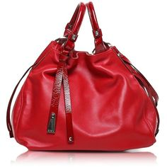 Francesco Biasia Angie Calf Leather Bucket Bag ($565) found on Polyvore
