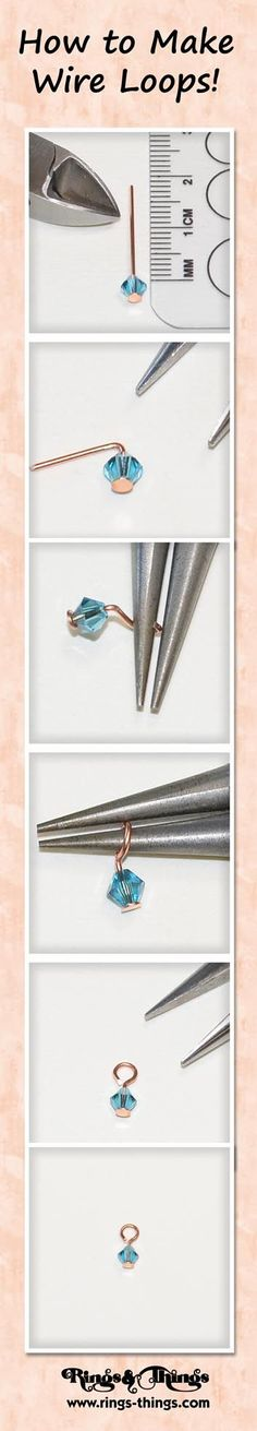 Tutorial | How to make wire loops | www.bykaro.nl for your jewelry making supplies