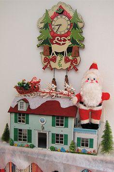 Wow!  The doll house reindeer and sleigh are right out of my childhood...and my cousin had that stuffed Santa!  That thing freaked me out!!! Christmas 2012 Decorations by Naughty Secretary Club, via Flickr