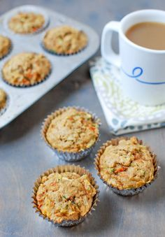 Zucchini Carrot Apple Muffins via @lclivingston