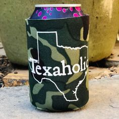 Texaholic Can Cooler in Camo Texas Longhorns, Boutique Clothing, Fashion Boutique, Travel Must Haves, Only Clothing, Camo Outfits, Camo Print, Drink Sleeves, Trendy Fashion