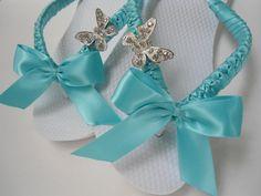 Flip flops Tiffany blue Perfect blue wedding by AdrianaDosSantos, $34.00