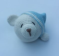 Ideas que mejoran tu vida Crochet Lovey, Crochet Mouse, Filet Crochet, Baby Blanket Crochet, Diy Crafts Crochet, Crochet Projects, Crochet Dinosaur, Doll Tutorial, Crochet Animals