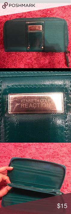 Kenneth Cole Reaction Wallet Beautiful color. Brand new, never used before with plastic still covering emblem on front of wallet. Great wallet with many compartments. Kenneth Cole Reaction Bags Wallets