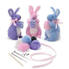 Easter Bunny Wool Felting Kit