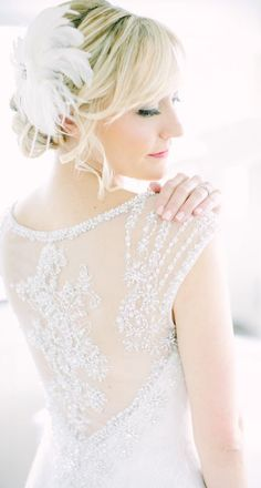 Wedding dress and hairstyle idea; Featured Photographer: Love and Light Photographs