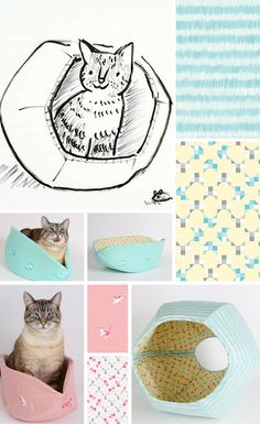 What happens when the person who designed the cat bed meets the person who designed the fabric that the cat bed is made from?