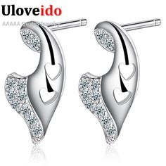 Find More Stud Earrings Information about Valentine's Day Gift Wings Earrings Stud For Women Micro Pave Crystal Platinum Plated Fashion Free Shipping 2015 Ulove R335,High Quality studs silver,China studs Suppliers, Cheap studded leather dog collar from D&C Fashion Jewelry Buy to Get a Free Gift on Aliexpress.com