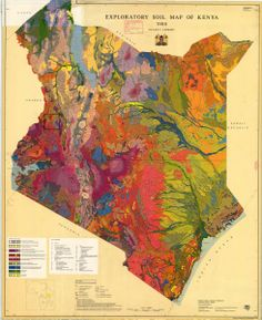 Exploratory soil map of Kenya,  1980 by Sombroek and Pauw. Ministry of Agriculture and Kenya Soil Survey