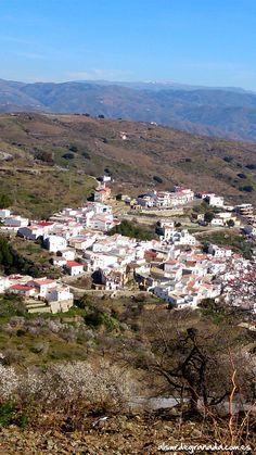 #Sorvilán, un rincón de #Andalucía rodeado de almendros en flor. Paisajes naturales de La #Alpujarra. Sierra La #Contraviesa al sur de #Granada.