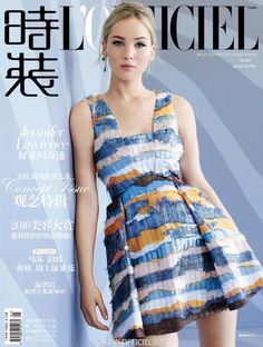 NEW Jennifer Lawrence for L'OFFICIEL China January