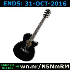 ENDS 31-OCT-2016  --  #Win an #Ibanez #AEG30 Black Electro-Acoustic #Guitar >wn.nr/N5NmRM< #competition #giveaway #sweepstakes #music #audio