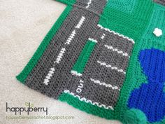 How to Crochet a Car Park and Side Road - Road Play Mat CAL