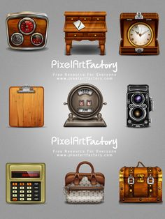 Free Vintage Web Icons all PNG Files. Click download and enjoy.