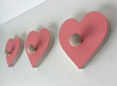 Heart Wall Hooks Eco friendly room decor by MapleShadeKids on Etsy