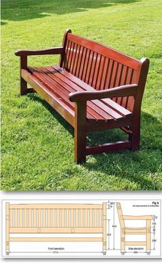 Garden Bench Plans - Outdoor Furniture Plans and Projects | WoodArchivist.com #woodworkingbench