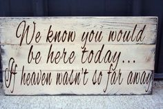 Wedding+Sign+Pallet+Sign+We+Know+You+Would+Be+by+RusticlyInspired,+$50.00