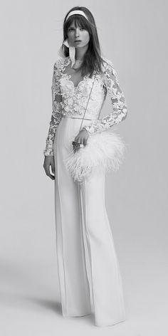 Elie Saab Bridal 2017 // Wedding jumpsuit {Facebook: The Wedding Scoop}
