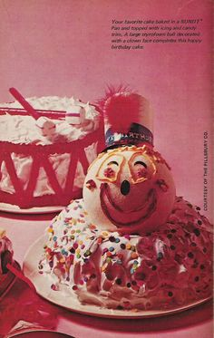 1970s clown cake from Welcome To The Wonderful World of Bundt