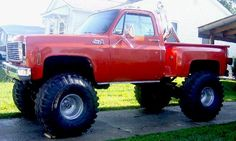 Big 4x4 Lifted Trucks | Rare find 1973 Pantera, highly modified, build sheet includes new 383 ...