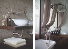archventil_interior_design_flat_krms-11 interior design - bathroom- devon devon bath white - bossini liberty mixer nickel - mirror - industrial - vintage - linen curtain - wooden shelf - flaminia navone basin boll - flowers - muji dispenser - qcterme perfume - fish bone parquet - etruria hexagon tiles