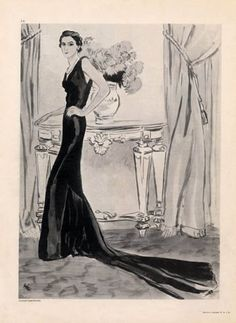 Augustabernard 1934 Evening Dress