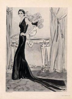 Augustabernard 1934 Evening Dress