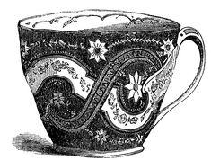 *The Graphics Fairy LLC*: Vintage Tea Clip Art - Fancy Teacups