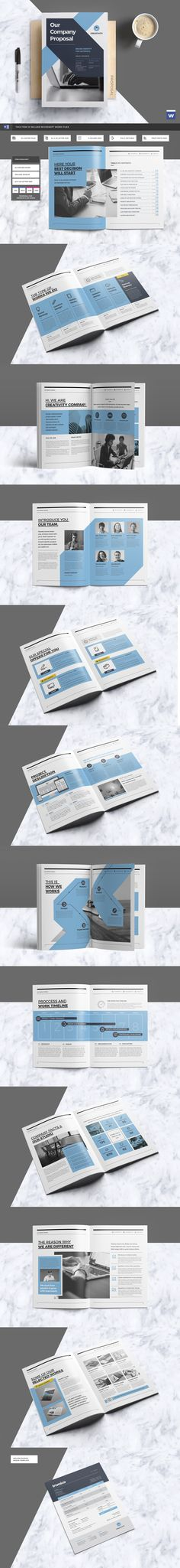 Clean & Professional Proposal Template With Include A4 & US Letter Size