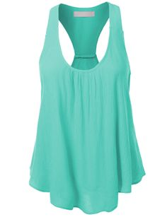 This flowy solid bohemian racerback tank top is a essential for this season! It's perfect when doing outdoor activities. Keep it cool and casual by pairing it with shorts and sandals. Feature - LINING Beautiful Outfits, Cute Outfits, Look Fashion, Womens Fashion, Racerback Tank Top, Spring Summer Fashion, What To Wear, Style Me, Athletic Tank Tops
