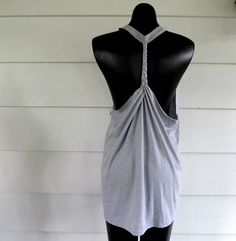 WobiSobi: Racer back tee DIY #2, braided back.