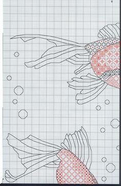 blackwork goldfish 1/4