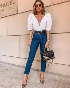 Street Style: The 30 Best Looks For Everyday - Outfit Ideas Cute Fall Outfits, Dressy Outfits, Jean Outfits, Stylish Outfits, Work Outfits, Outfit Jeans, Looks Chic, Casual Looks, Look Fashion