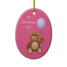 1st Christmas/photo Christmas Ornaments
