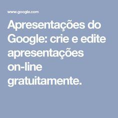 Apresentações do Google: crie e edite apresentações on-line gratuitamente.