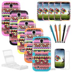 The tribal style case for Samsung Galaxy S4 SIV~ PC and Silicone Give the phone best protect. Great Gift for the fashion girl~