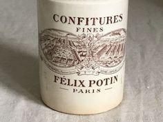 Felix Potin confiture pot (brown) from France   Attic Antics