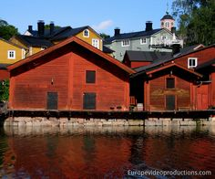 Europe Video Productions travel photo: Old town of Porvoo in Finland with wooden red shore houses - Porvoo Finland's second oldest town. Helsinki, Finland Travel, Finland Trip, Lapland Finland, Finland Country, Photo Voyage, Regions Of Europe, Scandinavian Countries, Enjoy Your Vacation