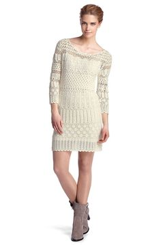 I like Boss Orange crochet designs. This is the second dress I've seen from them and I really like the way they incorporate simple openwor...