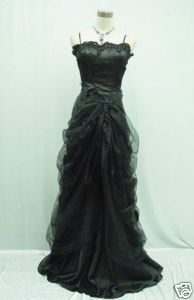 20 22 Black Masquerade Ball Dress Goth Dress SALE