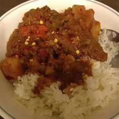 Cuban Beef Stew - Allrecipes.com. I would love to tinker around with the proportions, and maybe try it with sweet potatoes.