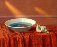 """Alex Alemany is a Spanish artist who is known for his surrealistic paintings which are often categorized as """"magical realism"""". Seashell Painting, Fruit Painting, Spanish Painters, Spanish Artists, Still Life Oil Painting, Galleries In London, National Portrait Gallery, Abstract Painters, Realism Art"""